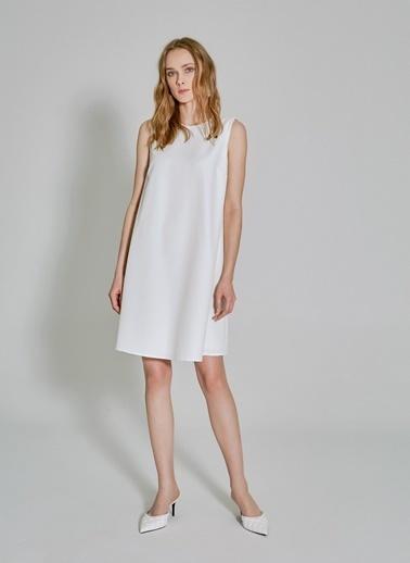People By Fabrika Kolsuz Elbise Beyaz